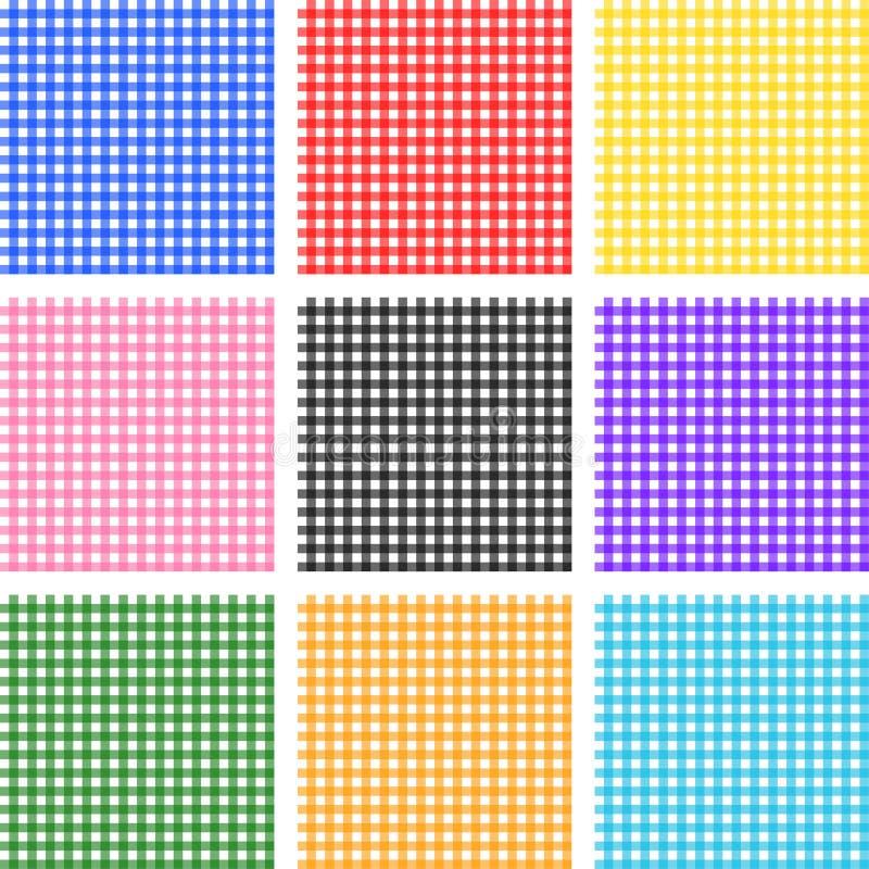 Seamless striped patterns stock illustration