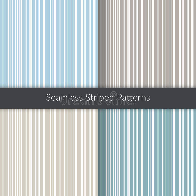 Seamless striped patterns. Line backgrounds set. Abstract illustration for decoration, fabric, concept design stock illustration