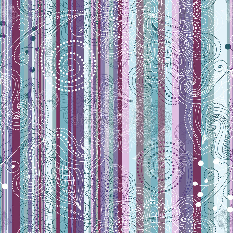 Download Seamless Striped Vintage Pattern Stock Vector - Illustration of illustration, geometric: 26921547