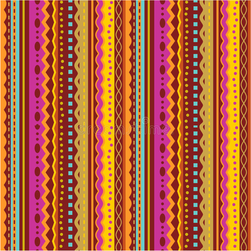 Seamless stripes and laces pattern vector illustration