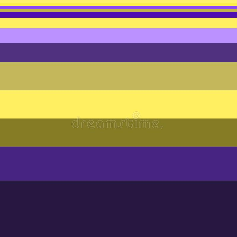 Seamless stripes pattern geometric vector background design art with different widths of yellow green purple lines coming from thi. Ck to thin royalty free illustration