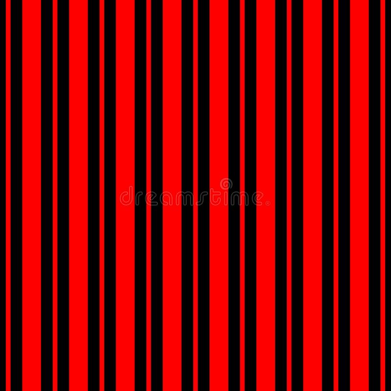 Seamless stripes vector pattern abstract geometric background with colorful vertical lines black and red vector illustration