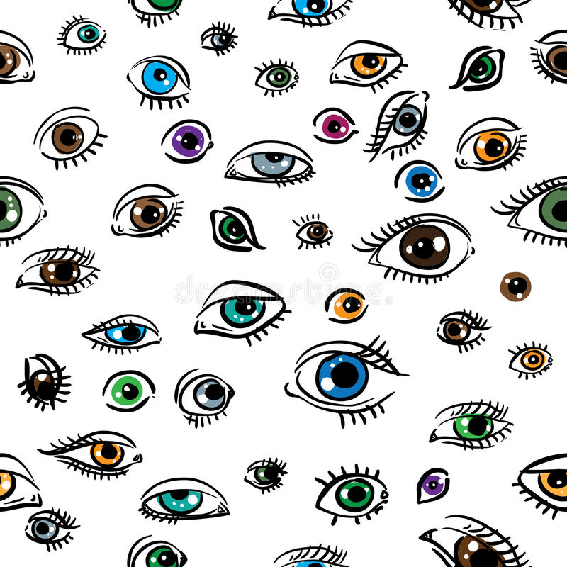 Seamless structure on which eyes. Are represented vector illustration