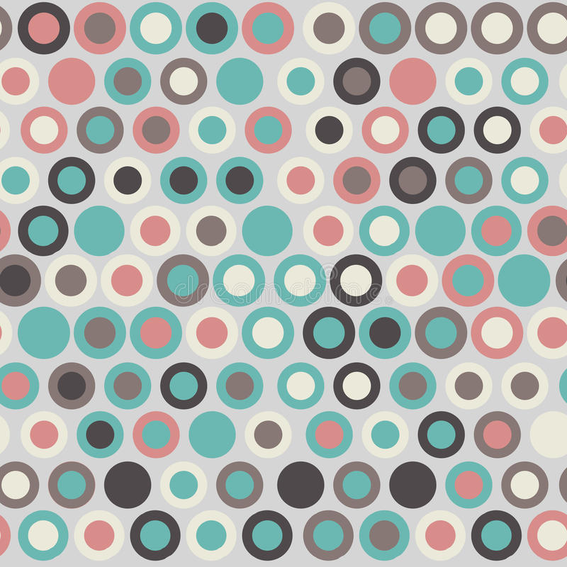 Seamless stylish geometric pattern. Vector illustration with concentric circles various color. Colorful simple background vector illustration