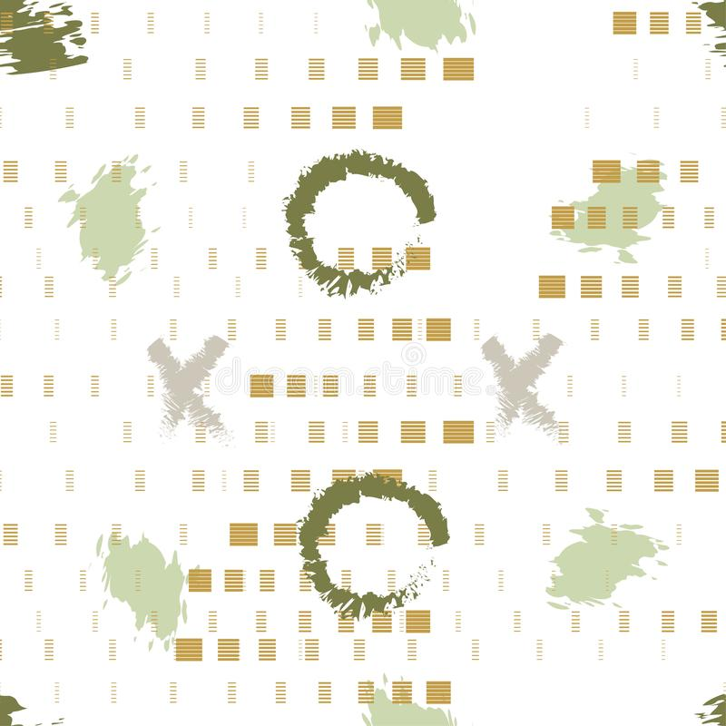 Seamless hipster stylish textile pattern. Vector illustration background. stock illustration