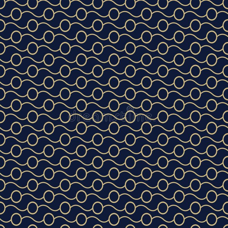 Seamless stylish texture with circles and dark blue color. For wallpaper, surface, web design, textile, decor royalty free illustration
