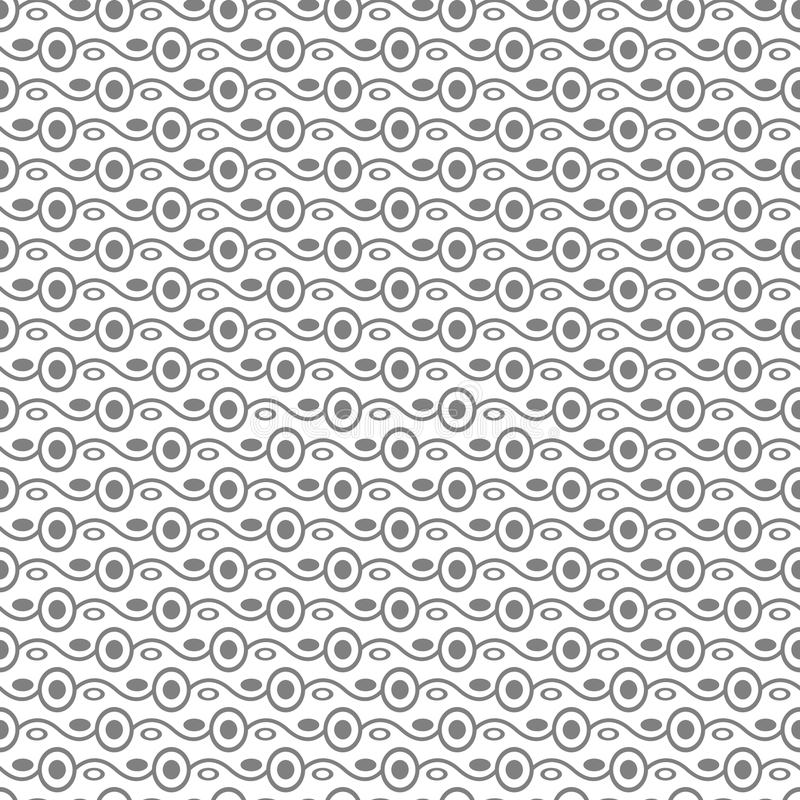 Seamless stylish texture with connected circles. Black and White. For wallpaper, surface, web design, textile, decor vector illustration