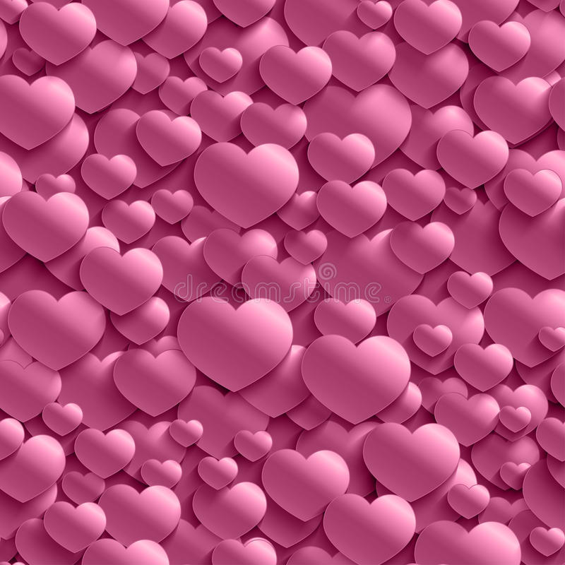 Seamless stylish Valentine`s Day pattern with hearts. royalty free illustration