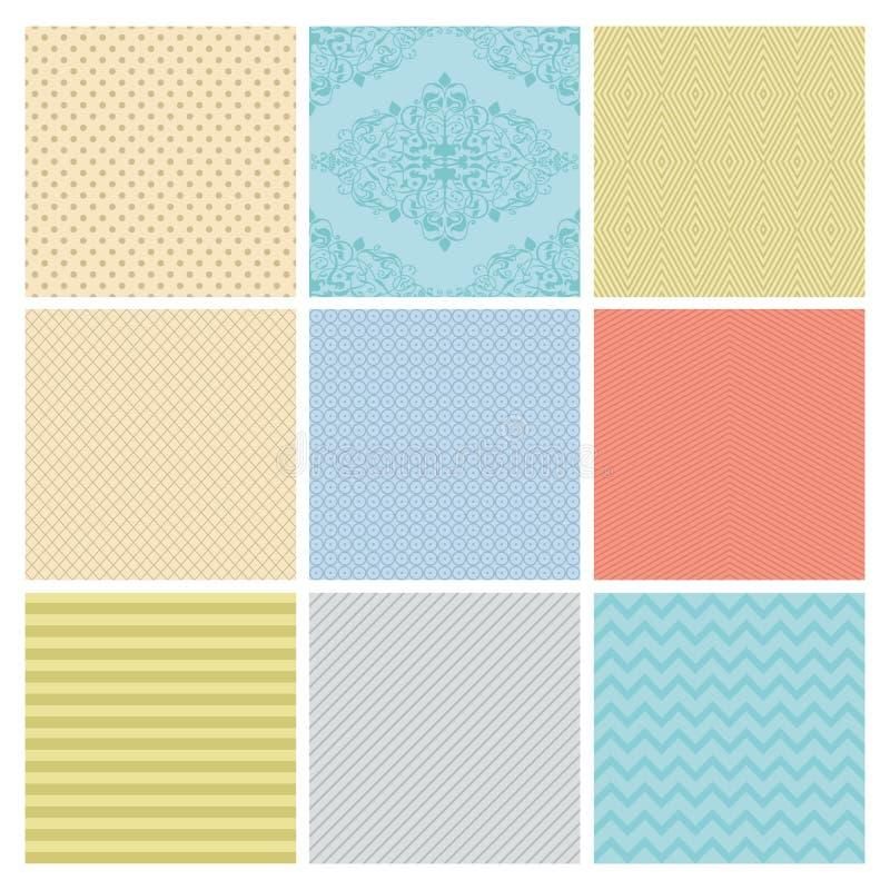 Free Seamless Subtle Geometric Background Set. Royalty Free Stock Images - 38902679