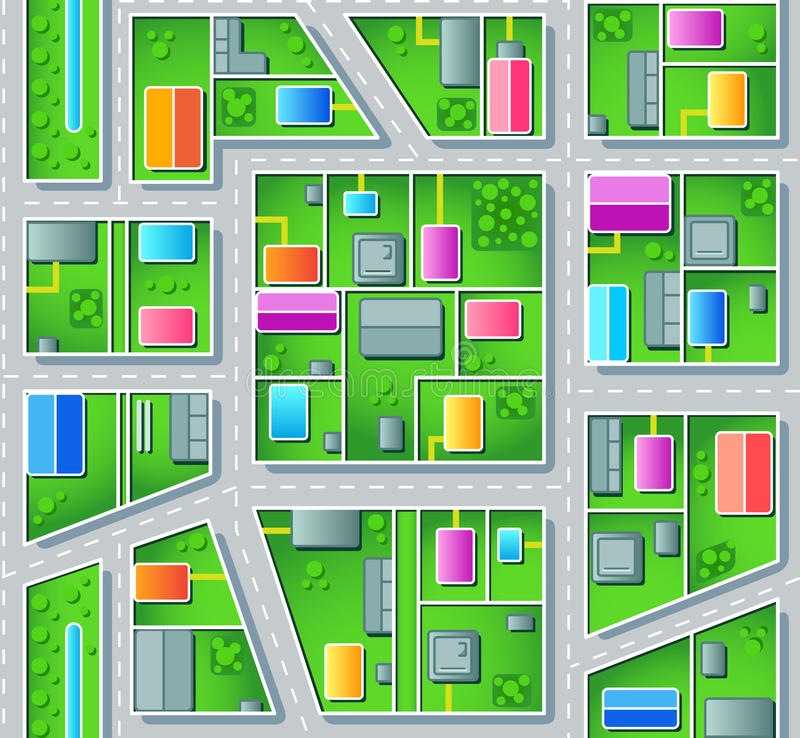 Download Seamless suburb plan stock vector. Image of seamless - 18441858