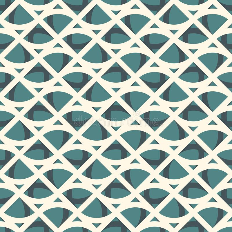 Seamless surface pattern with abstract waves. Contemporary print with geometric forms. Modern ornament with triangles. Seamless surface pattern with abstract royalty free illustration