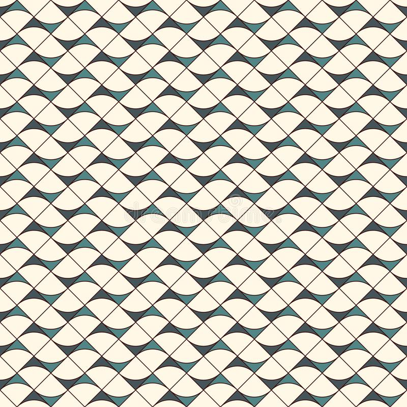 Seamless surface pattern with abstract waves. Contemporary print with geometric forms. Modern ornament with triangles. Seamless surface pattern with abstract vector illustration