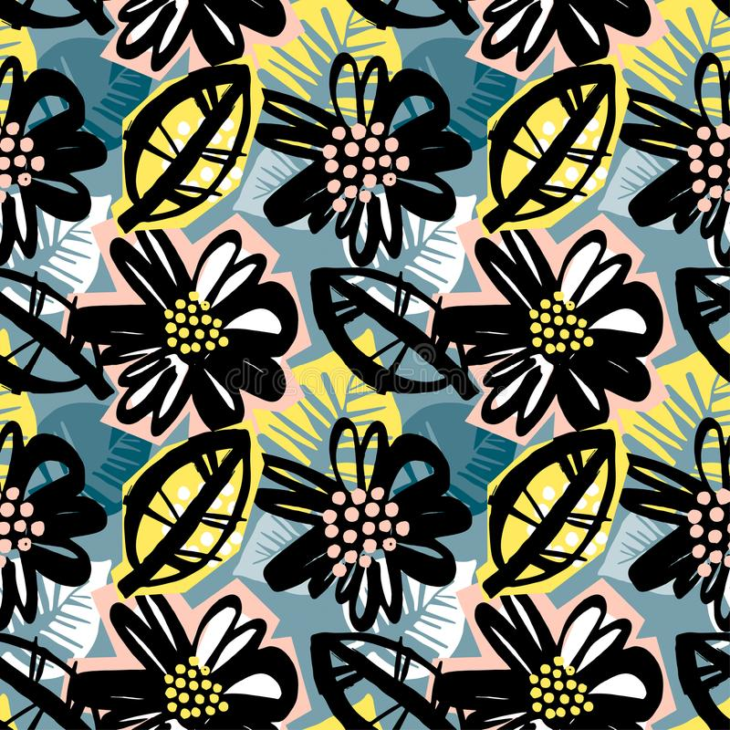 Seamless surface pattern floral design vector illustration