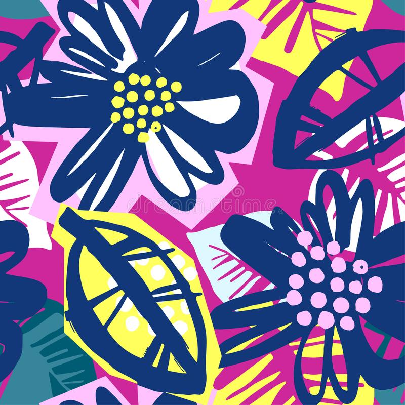 Seamless surface pattern floral design royalty free illustration