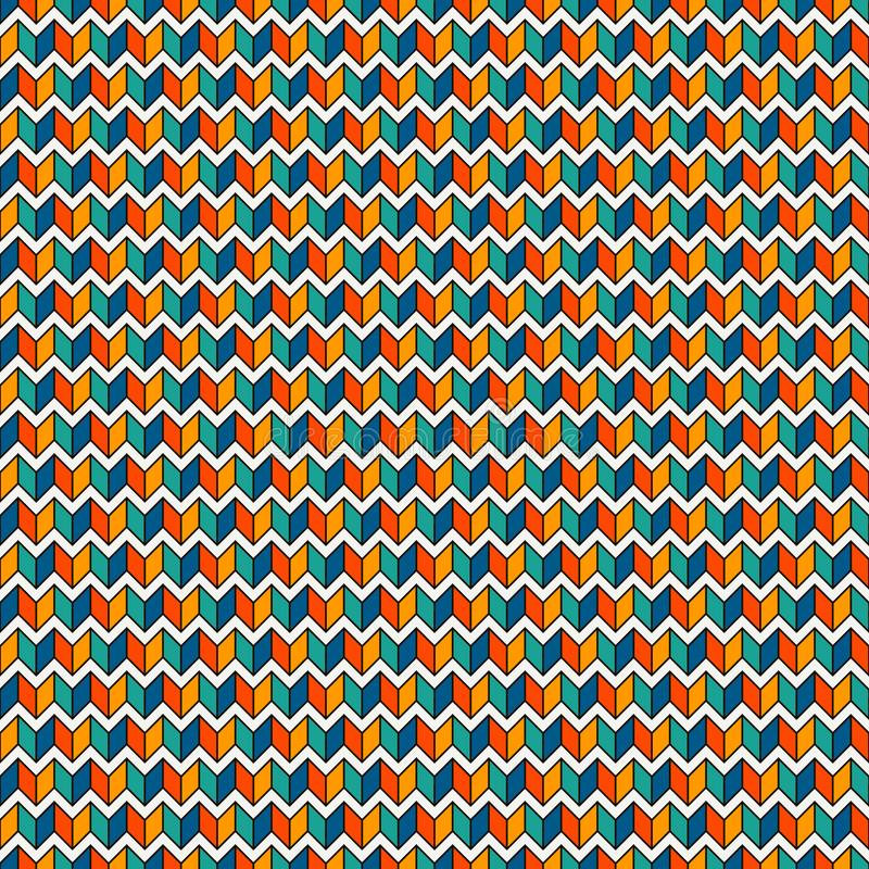 Seamless surface pattern with herringbone motif. Repeated chevrons wallpaper. Zigzag lines. Jagged triangular waves vector illustration