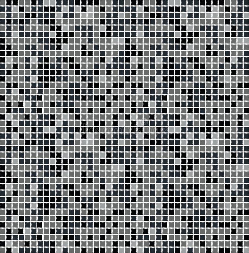 seamless svart mosaik vektor illustrationer