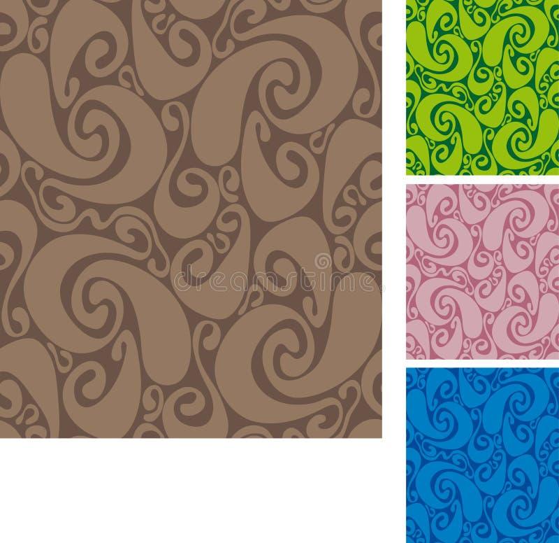 seamless swirls för modell ii stock illustrationer