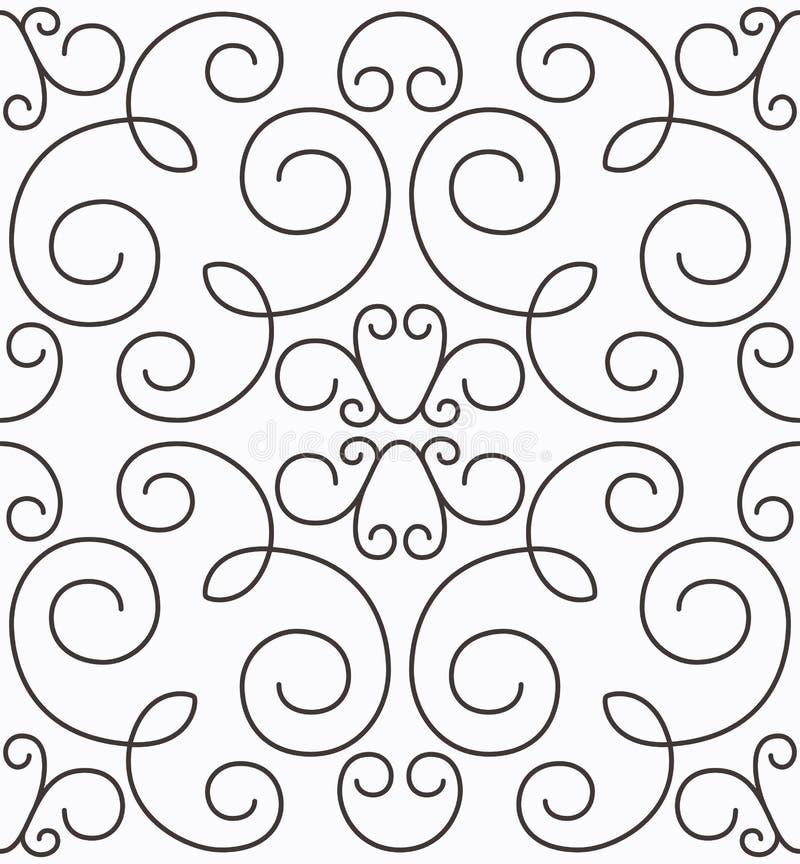 seamless swirly symmetrisk vektor för modell vektor illustrationer