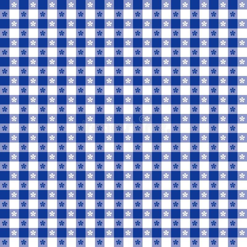 seamless tablecloth för blå modell stock illustrationer