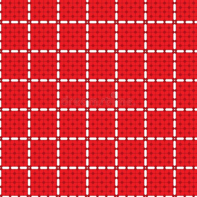 seamless tablecloth för cirkelmodellrektangel royaltyfri illustrationer