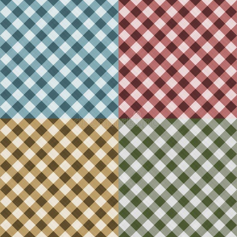 seamless tablecloth för ginghammodell royaltyfri illustrationer