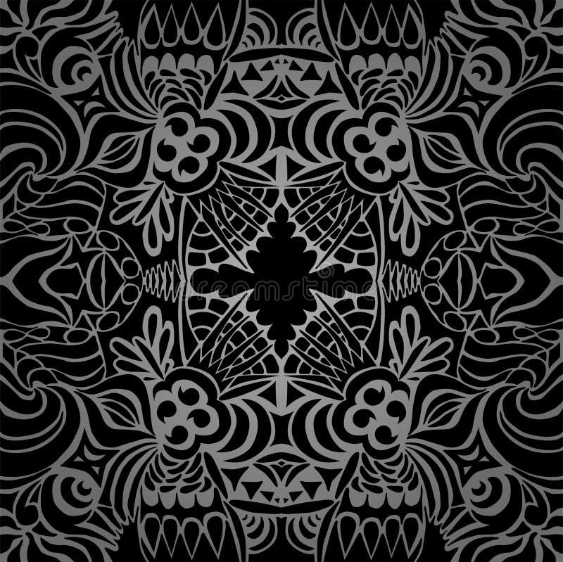 seamless tabutatoo två för svart modell vektor illustrationer