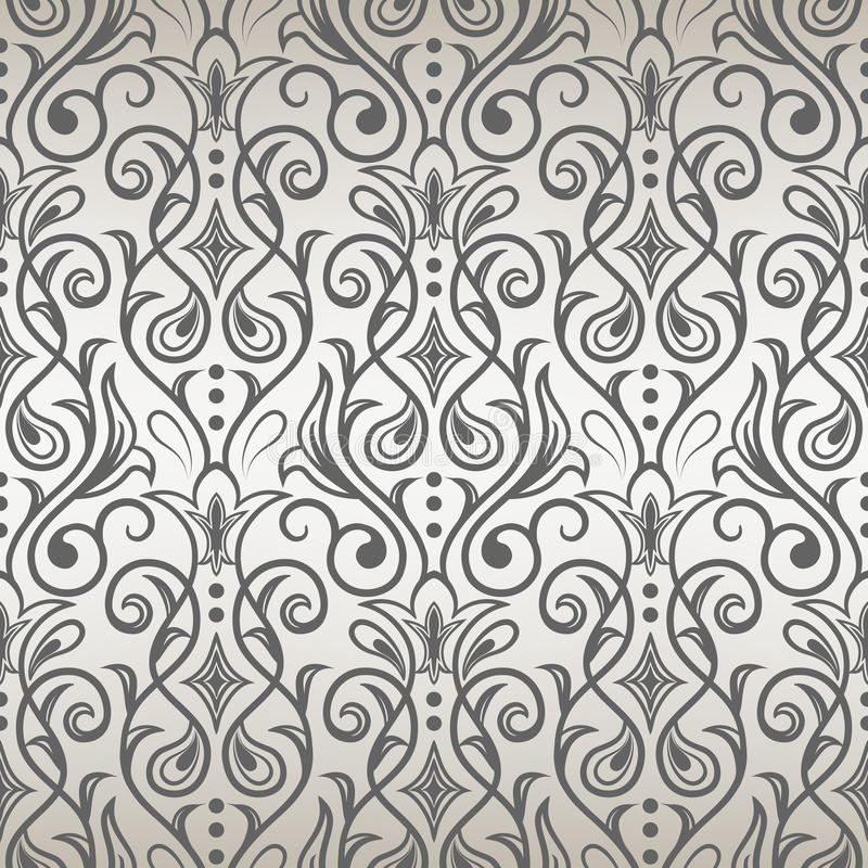 seamless tappning för bakgrund seamless wallpaper stock illustrationer