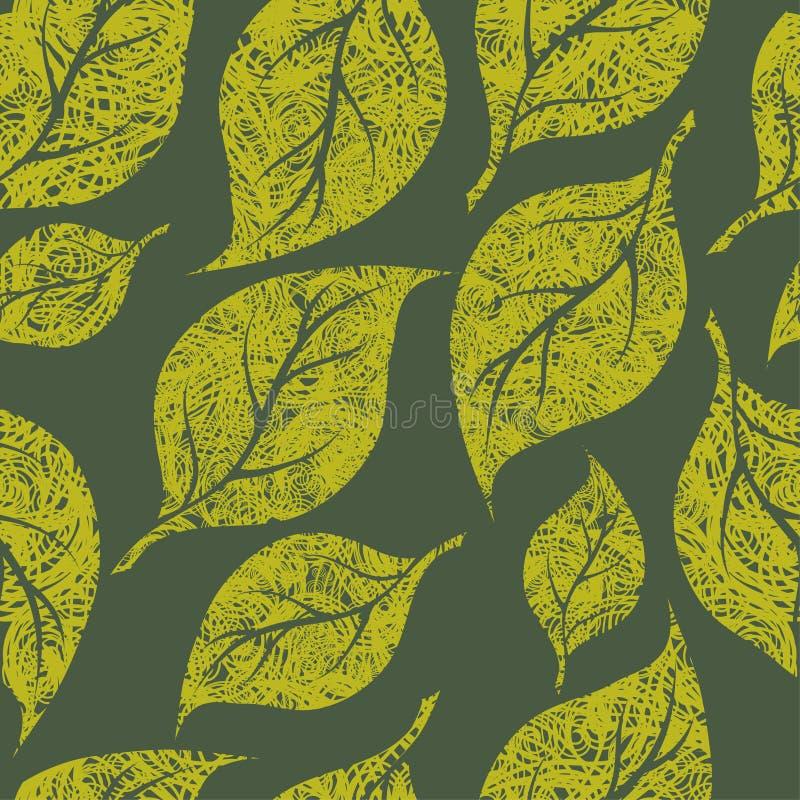 seamless tappning för blom- grungemodell royaltyfri illustrationer