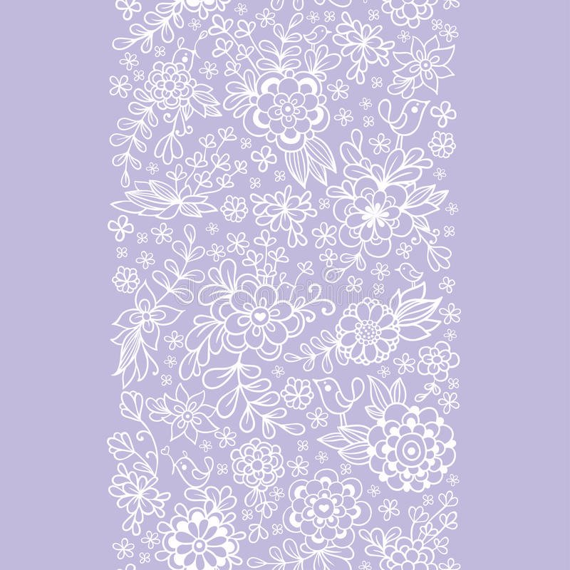 seamless tappning för blom- modell royaltyfri illustrationer