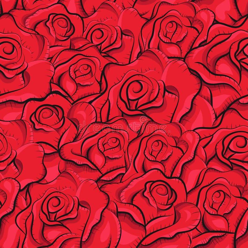 Download Seamless Tappningro Mönstrar Vektor Illustrationer - Illustration av blommor, draw: 27285710