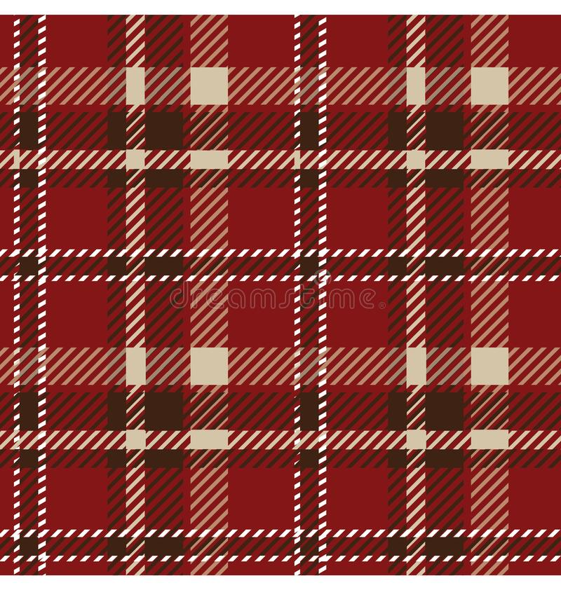 Seamless tartan pattern vector illustration