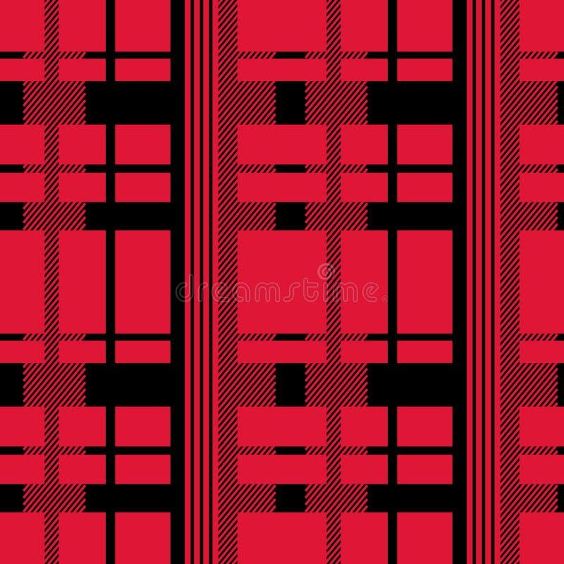 Seamless Tartan plaid pattern. Vector illustration royalty free illustration