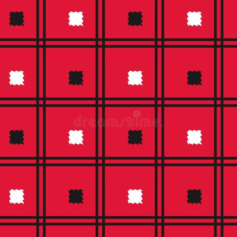 Seamless Tartan plaid pattern. Vector illustration stock illustration