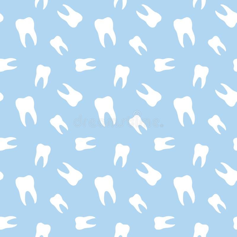 Seamless Teeth Dental Pattern. Background stock illustration