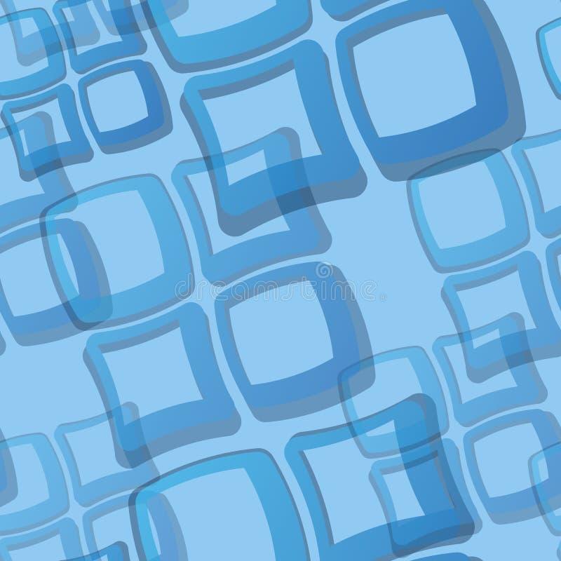 seamless tegelplatta för blå modell royaltyfri illustrationer