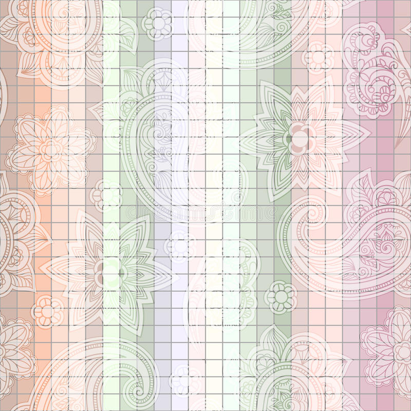 seamless tegelplatta för paisley modell vektor illustrationer