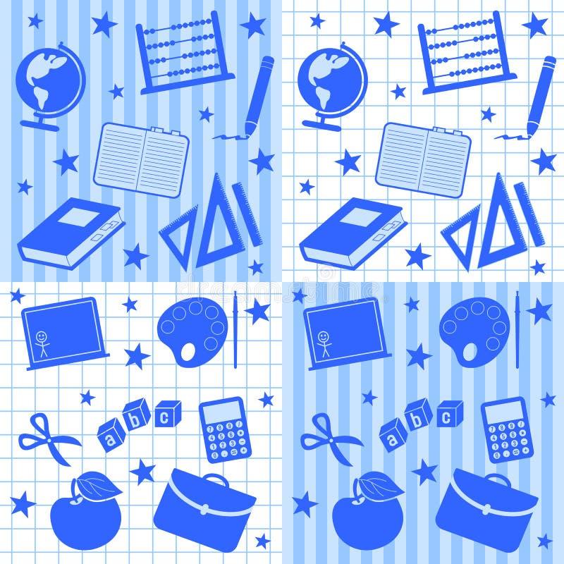 seamless tegelplattor för pojkeskola royaltyfri illustrationer