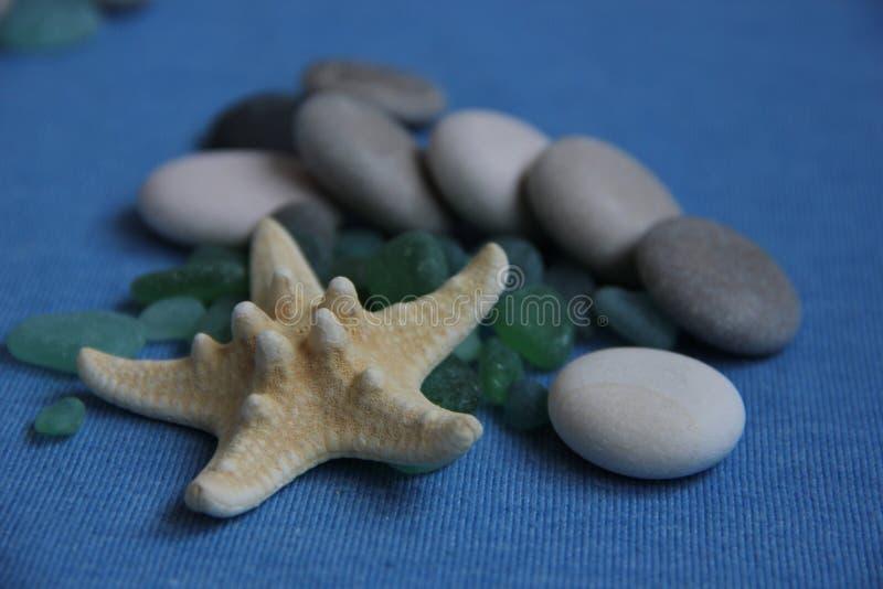 seamless tema för blått marin- hav fotografering för bildbyråer