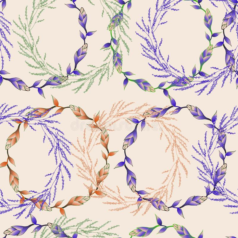 Seamless textile texture. Floral ornament. Endless vintage texture for your design, advertising, posters stock illustration