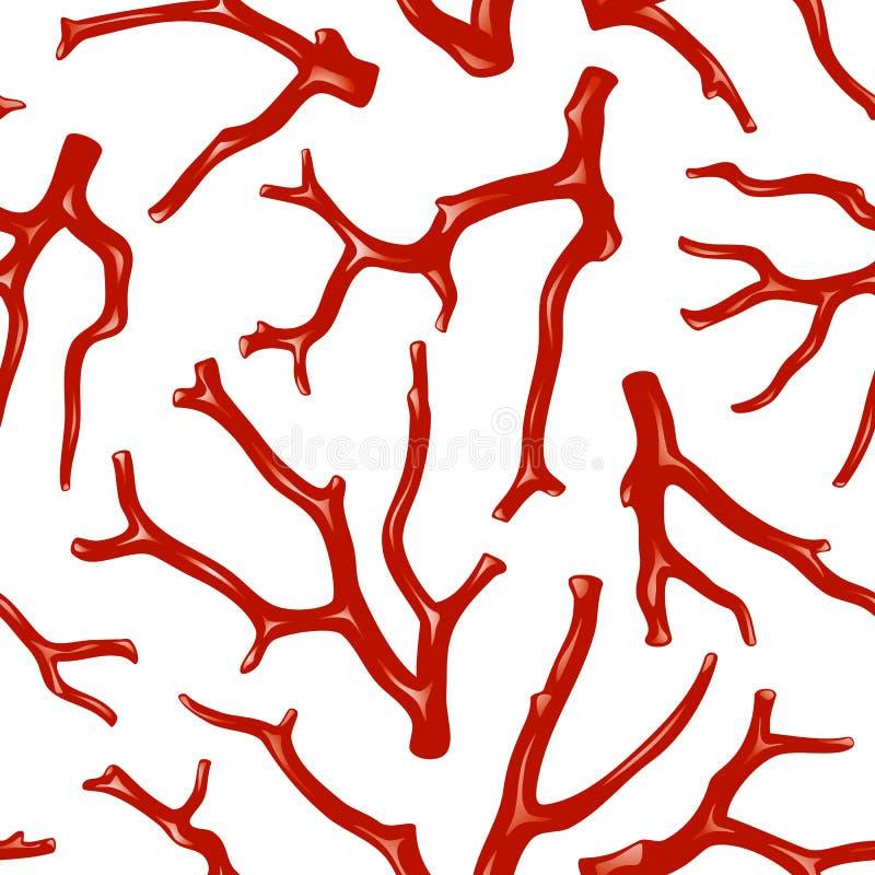 seamless textur för korall vektor illustrationer