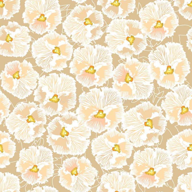 Seamless textur med blom- tema royaltyfri illustrationer