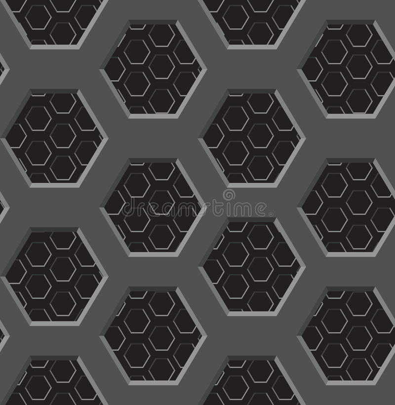 Seamless texture. A two-layer lattice with six-coal apertures eps8 royalty free illustration