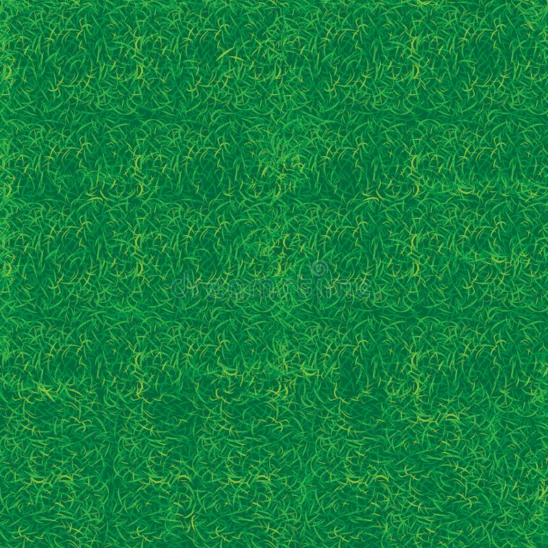 Seamless texture background green grass lawn nature. Seamless texture back background. Part of the lawn with green grass. Vector illustration stock illustration