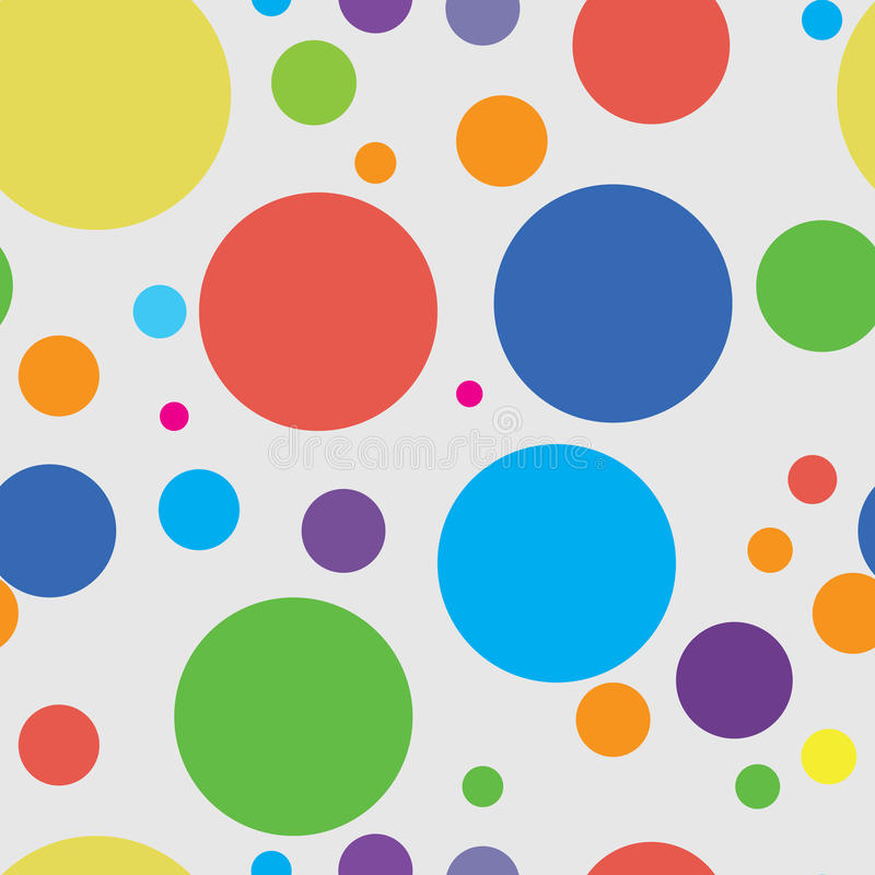 Seamless texture with balls royalty free illustration