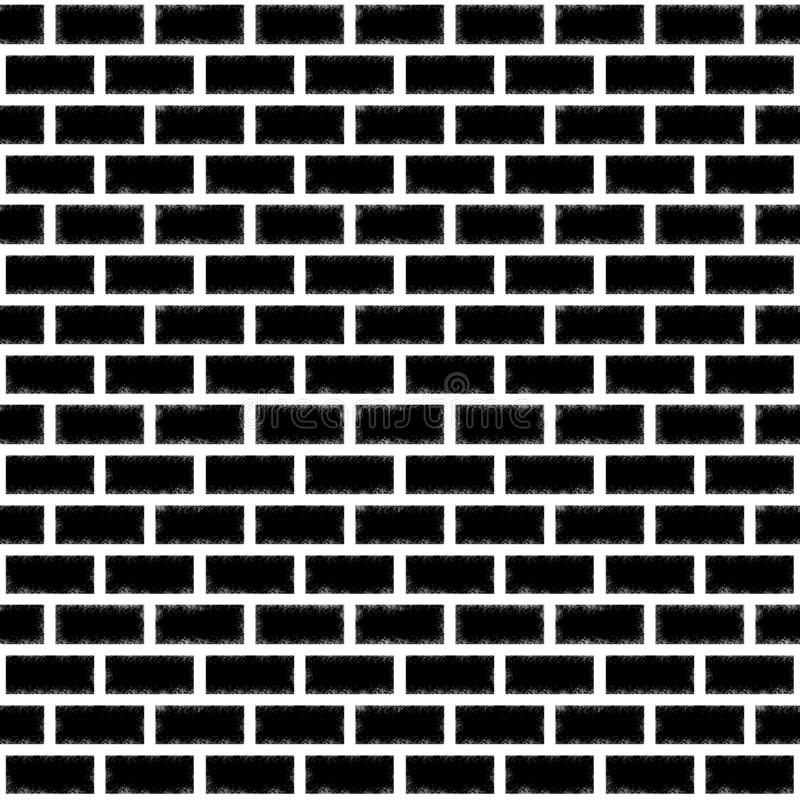 Seamless texture of black brick with a pattern on the edges royalty free stock photos
