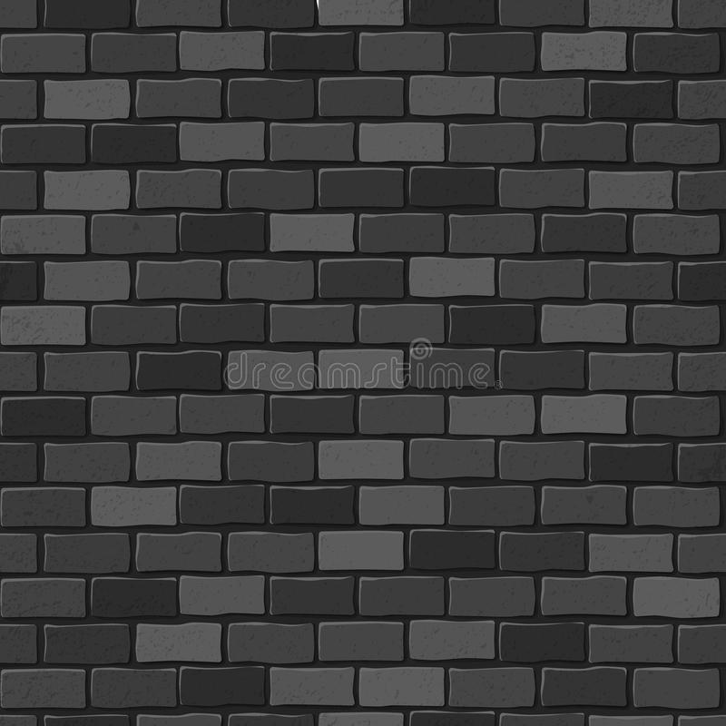 Download Seamless Texture Black Brick White Wall Stock Vector