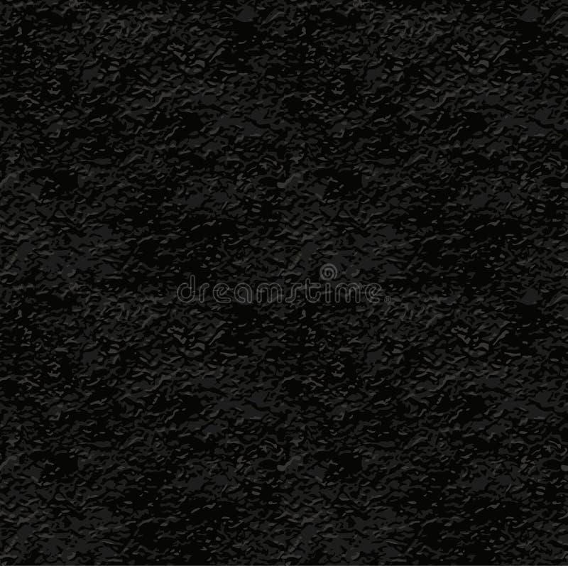 Seamless Texture Of Black Stucco Wall Stock Vector
