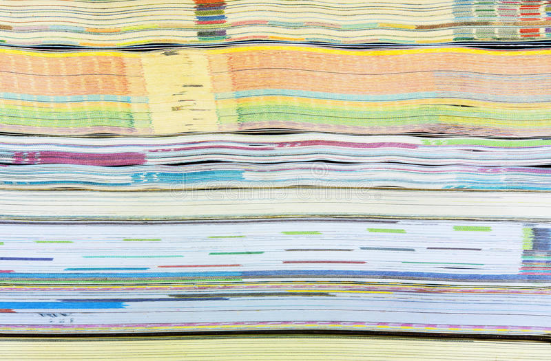 Seamless texture of book pages, colorful background. royalty free stock photos