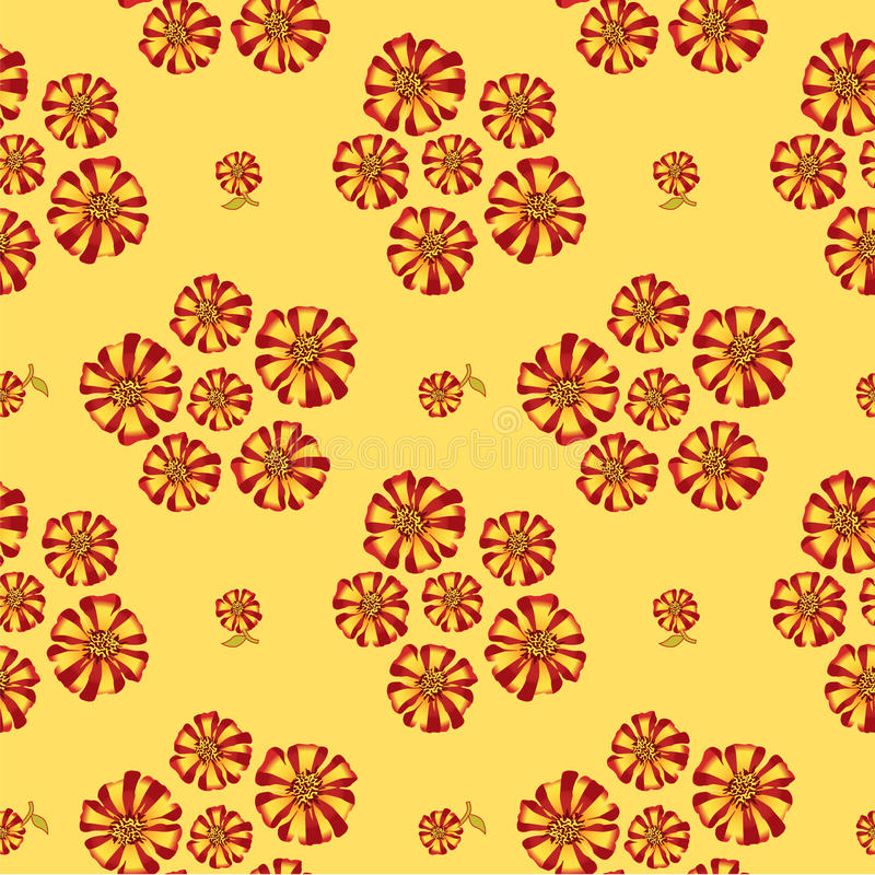 Seamless texture with bouquets of flowers