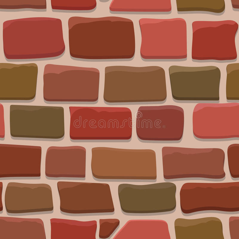 Seamless Texture Of A Cartoon Brick Wall Stock Vector